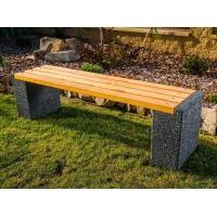 Parková betonová lavička Karin bez opěradla