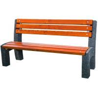 Parková betonová lavička Lada s opěradlem