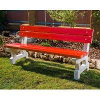 Parková betonová lavička New s opěradlem