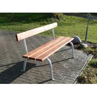 Parková lavička trubková, s opěradlem