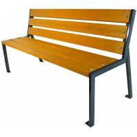 Parková lavička Zlín s opěradlem