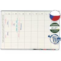Plánovací tabule keramická PK K EkoTAB 70 x 100 cm - týdenní