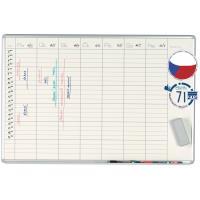 Plánovací tabule magnetická PK L EkoTAB 70 x 100 cm - týdenní