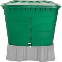 Plastová nádrž na dešťovou vodu RHIN 520 l zelená