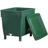 Plastová nádrž na dešťovou vodu s víkem Cube 400 l zelená