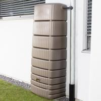 Plastová nádrž na dešťovou vodu SEINE 650 l hnědá