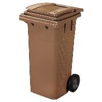 Plastová popelnice na BIO odpad objem 120 l hnědá