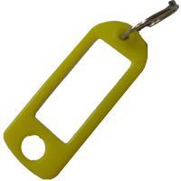 Plastové štítky na klíče žluté 100 ks