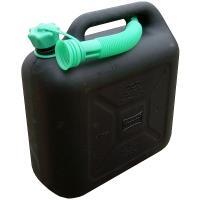 Plastový kanystr na hořlavé látky 10 l černý