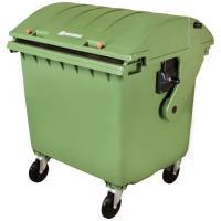 Plastový kontejner na odpad 1100 l zelený
