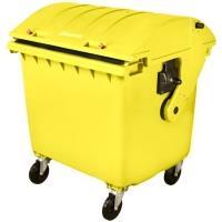 Plastový kontejner na odpad 1100 l žlutý