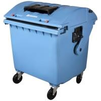 Plastový kontejner objem 1100 l modrý