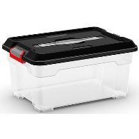 Plastový Moover Box KIS průhledný s černým víkem, vel. XS