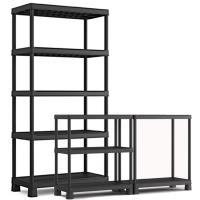 Plastový regál KIS PLUS shelf tribac, 5 polic o nosnosti 60 kg