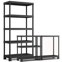 Plastový regál KIS PLUS shelf tribac, 5 polic o nosnosti 60kg
