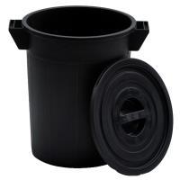 Plastový sud bez víka 50l, černý