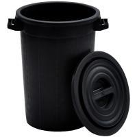 Plastový sud bez víka 75l, černý