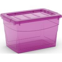 Plastový úložný box KIS Omni box fuchsiový 16 l