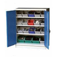 Plechová skříň A93 na plastové zásobníky