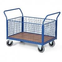 Plošinový vozík se sítí J5, nosnost 500 kg
