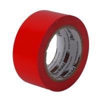 Podlahová označovací páska červená