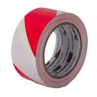 Podlahová označovací páska červeno-bílá