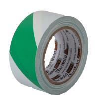 Podlahová označovací páska zeleno-bílá