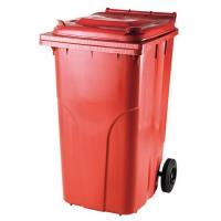 Popelnice plastová 240l červená