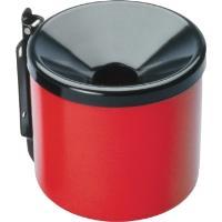 Popelník venkovní nástěnný průměr 90mm červeno/černý