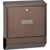Poštovní schránka kombinovaná tmavě hnědá
