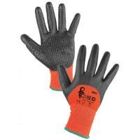 Pracovní rukavice polomáčené MISTI s terčíky v dlani vel. 9 / L