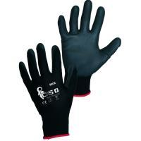 Pracovní rukavice povrstvené BRITA BLACK vel. 8