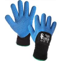 Pracovní rukavice povrstvené ROXY BLUE WINTER zimní vel.10