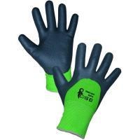 Pracovní rukavice povrstvené ROXY DOUBLE WINTER zimní vel.10