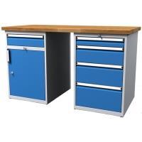 Pracovní stůl dílenský - šířka 1500mm ALCERA PROFI se skříňkami
