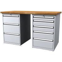 Pracovní stůl dílenský - šířka 1500mm ALCERA PROFI se zásuvkami