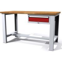 Pracovní stůl dílenský - šířka 2000mm ALCERA PROFI se zásuvkou