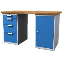Pracovní stůl dílenský - šířky 1500mm ALCERA UNI se skříňkami