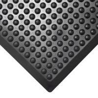 Průmyslová rohož COBA Bubblemat černá 0,6 x 0,9m koncový díl