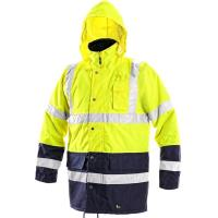 Reflexní bunda OXFORD zimní žluto-modrá vel. XXXL