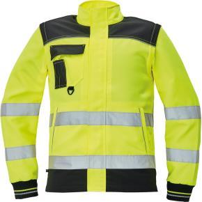 Reflexní pracovní bunda 2v1 Červa KNOXFIELD HV žlutá vel. 64 1cfe94ebb3