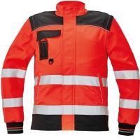 Reflexní pracovní bunda 2v1 Knoxfield HV červená vel. 52