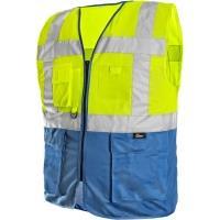 Reflexní vesta BOLTON žluto-modrá vel. L