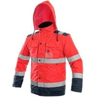 Reflexní zimní bunda Canis Luton 2v1 červeno-modrá vel. M
