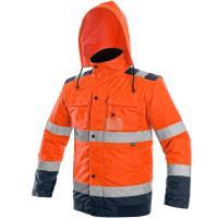 Reflexní zimní bunda Luton 2v1 oranžovo-modrá vel. L