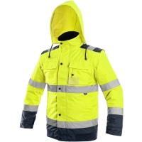 Reflexní zimní bunda Luton 2v1 žluto-modrá vel. 2XL