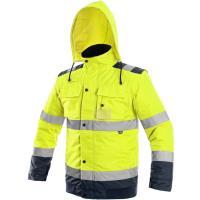 Reflexní zimní bunda Luton 2v1 žluto-modrá vel. XL