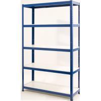 Regál Nahomi modrý 1800x900x400mm, 5 polic bílých nosnost na polici 375kg