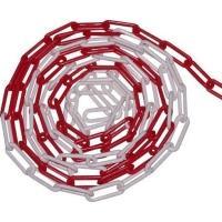 Řetěz plastový 10m červeno - bílý