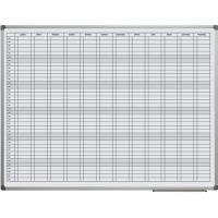 Roční plánovací tabule magnetická 90 x 120 cm